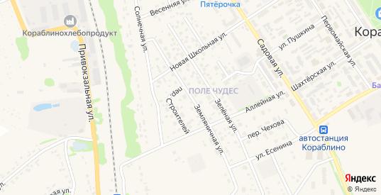 Земляничная улица в Кораблино с номерами домов на карте. Спутник и схема онлайн