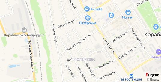 Цветочная улица в Кораблино с номерами домов на карте. Спутник и схема онлайн