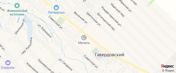 Садовая улица на карте Гавердовского хутора с номерами домов