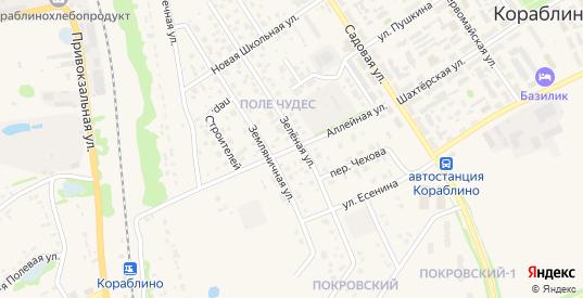 Аллейная улица в Кораблино с номерами домов на карте. Спутник и схема онлайн