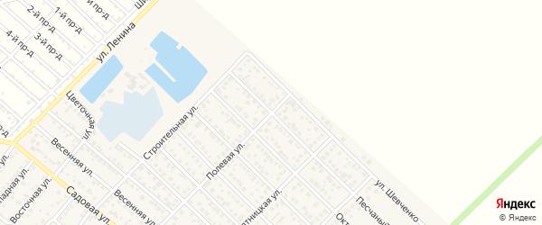Песчаный переулок на карте Гавердовского хутора с номерами домов