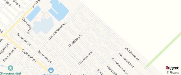 Октябрьская улица на карте Майкопа с номерами домов