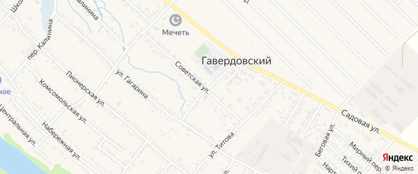 Клубный переулок на карте Гавердовского хутора с номерами домов
