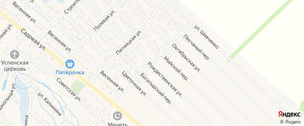 Улица Надежды на карте Гавердовского хутора с номерами домов