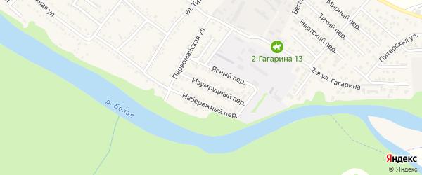 Изумрудный переулок на карте Гавердовского хутора с номерами домов