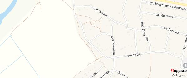 Степной переулок на карте Старочеркасской станицы Ростовской области с номерами домов