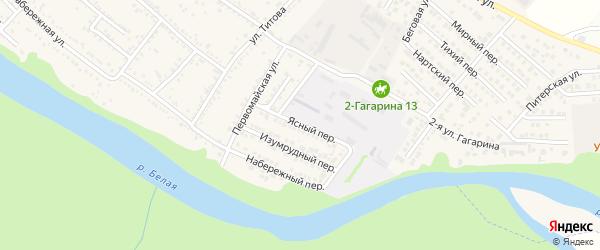 Ясный переулок на карте Гавердовского хутора с номерами домов