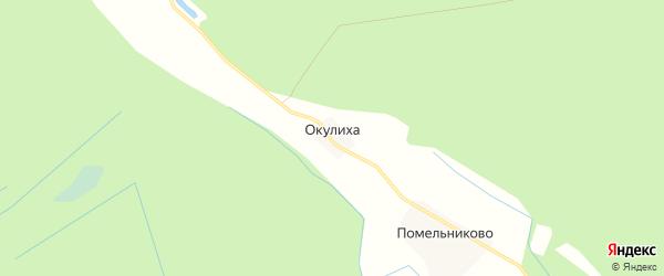 Карта деревни Окулихи в Вологодской области с улицами и номерами домов