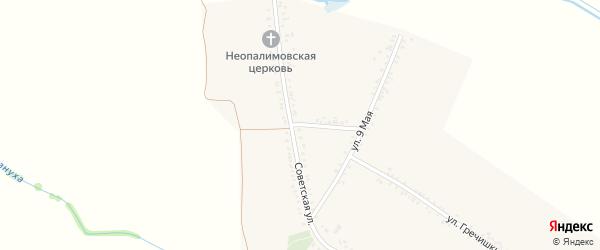 Северный переулок на карте хутора Чернышева с номерами домов