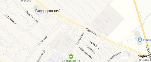 Заводская улица на карте Гавердовского хутора с номерами домов