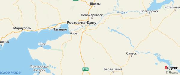 Карта Кагальницкого района Ростовской области с городами и населенными пунктами