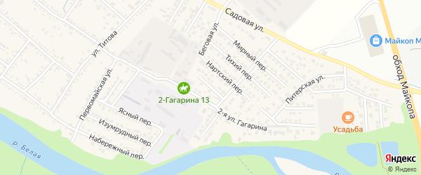 Крайний переулок на карте Гавердовского хутора с номерами домов
