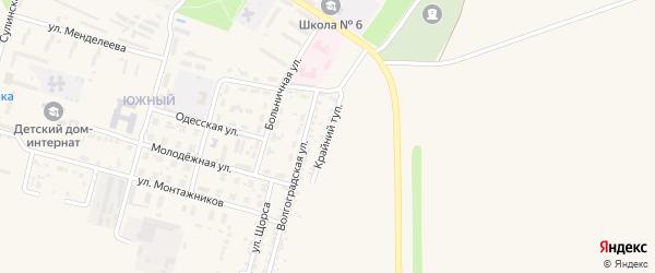 Крайний тупик на карте Красного Сулина с номерами домов