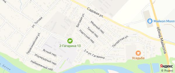 Нартский переулок на карте Гавердовского хутора с номерами домов