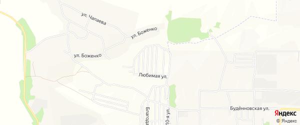 Территория СНТ Виноград на карте Аксайского района Ростовской области с номерами домов