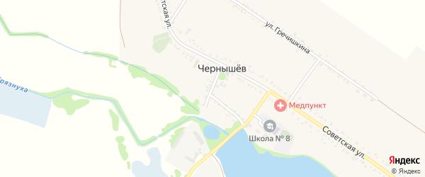 Мостовая улица на карте хутора Чернышева Адыгеи с номерами домов