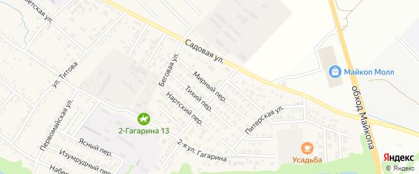 Мирный переулок на карте Гавердовского хутора с номерами домов