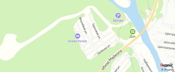 Вишневая улица на карте садового некоммерческого товарищества Заречного-2 Адыгеи с номерами домов