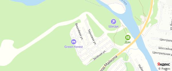 Грушовая улица на карте садового некоммерческого товарищества Заречного-2 Адыгеи с номерами домов