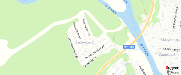 Терновая улица на карте садового некоммерческого товарищества Заречного-2 Адыгеи с номерами домов