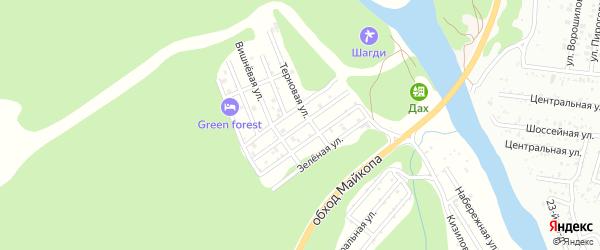 Рябиновая улица на карте садового некоммерческого товарищества Заречного-2 с номерами домов