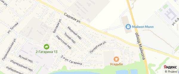 Черкесский переулок на карте Гавердовского хутора с номерами домов