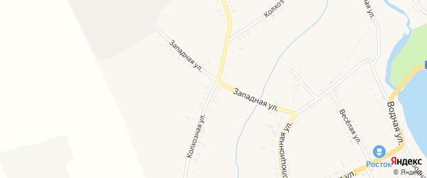Колхозная улица на карте Гиагинской станицы Адыгеи с номерами домов