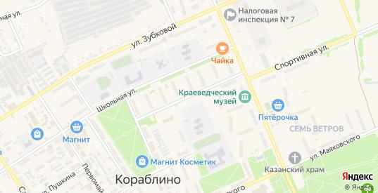 Улица имени И.Н.Зыканова в Кораблино с номерами домов на карте. Спутник и схема онлайн