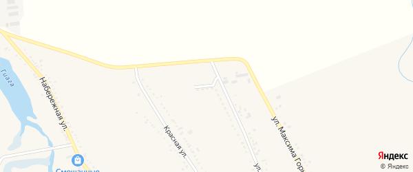 Северная улица на карте Гиагинской станицы Адыгеи с номерами домов