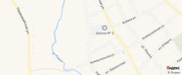 Набережная улица на карте Гиагинской станицы Адыгеи с номерами домов