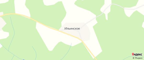 Карта деревни Ильинского в Ярославская области с улицами и номерами домов