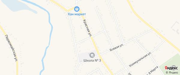 Улица Степана Разина на карте Гиагинской станицы Адыгеи с номерами домов