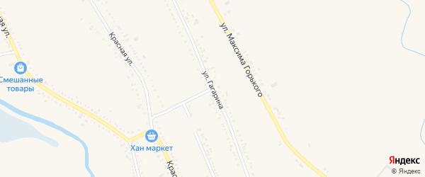 Улица Гагарина на карте Гиагинской станицы Адыгеи с номерами домов