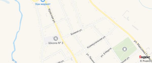Боевая улица на карте Гиагинской станицы Адыгеи с номерами домов