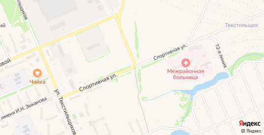 Спортивная улица в Кораблино с номерами домов на карте. Спутник и схема онлайн