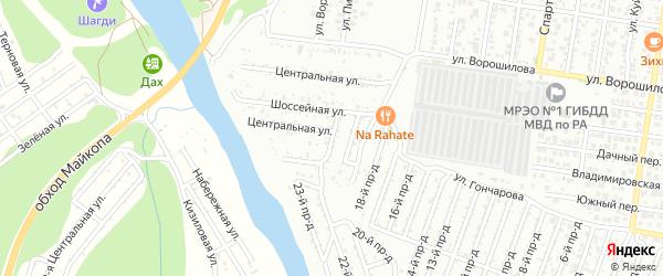 Улица Строителей на карте Весны с номерами домов