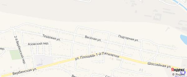 Веселая улица на карте Красного Сулина с номерами домов