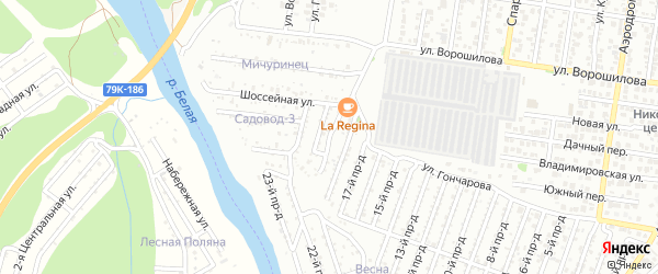 19-й проезд на карте Весны с номерами домов