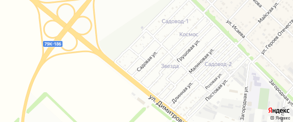 Садовая улица на карте Звезды с номерами домов