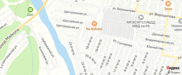 18-й проезд на карте садового некоммерческого товарищества Весны с номерами домов