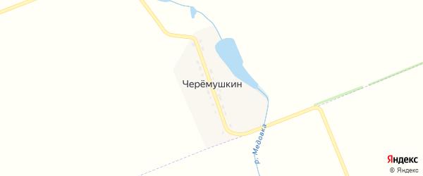 Бригадная улица на карте поселка Черемушкина Адыгеи с номерами домов
