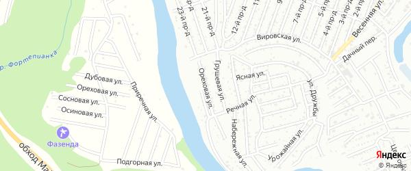 Ореховая улица на карте Дружбы с номерами домов