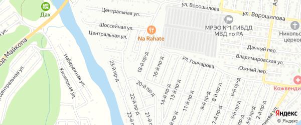 17-й проезд на карте Весны с номерами домов