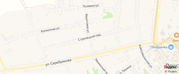 Стрелецкий переулок на карте Ряжска с номерами домов