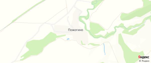 Карта деревни Пожогино в Рязанской области с улицами и номерами домов