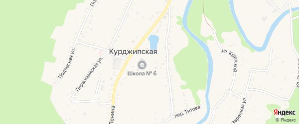 Школьная улица на карте Курджипской станицы Адыгеи с номерами домов