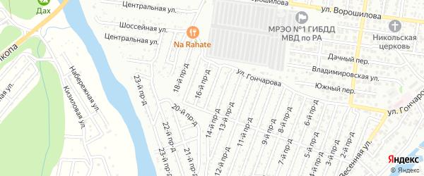 15-й проезд на карте Весны с номерами домов