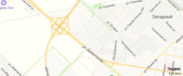 Карта садового некоммерческого товарищества Звезды города Майкопа в Адыгее с улицами и номерами домов