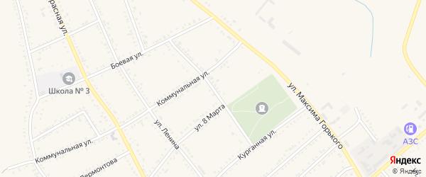 Улица С.Я.Маслюка на карте Гиагинской станицы Адыгеи с номерами домов