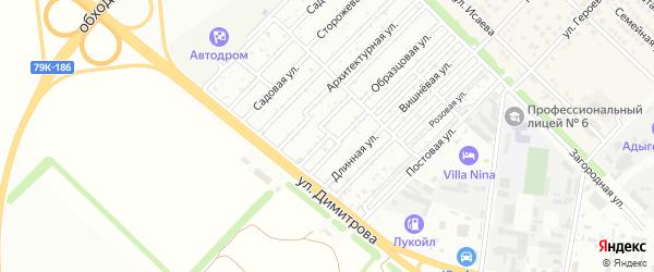 Дерибасовская улица на карте Звезды с номерами домов